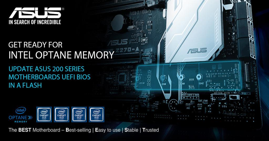 ASUS BIOS Optane update 1