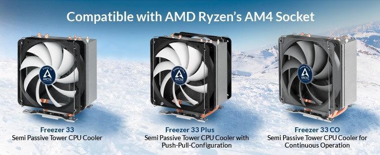 Arctic Cooling Freezer 33 – кулеры с поддержкой Ryzen и сокета AM4