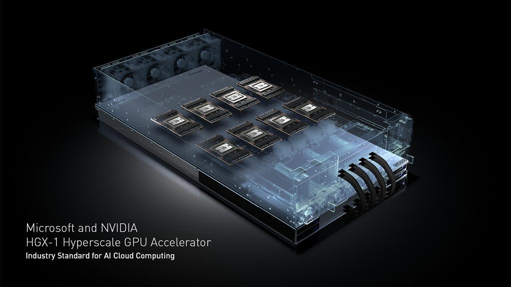 NVIDIA и Microsoft представили ускоритель HGX-1 с 8X GPU Tesla P100