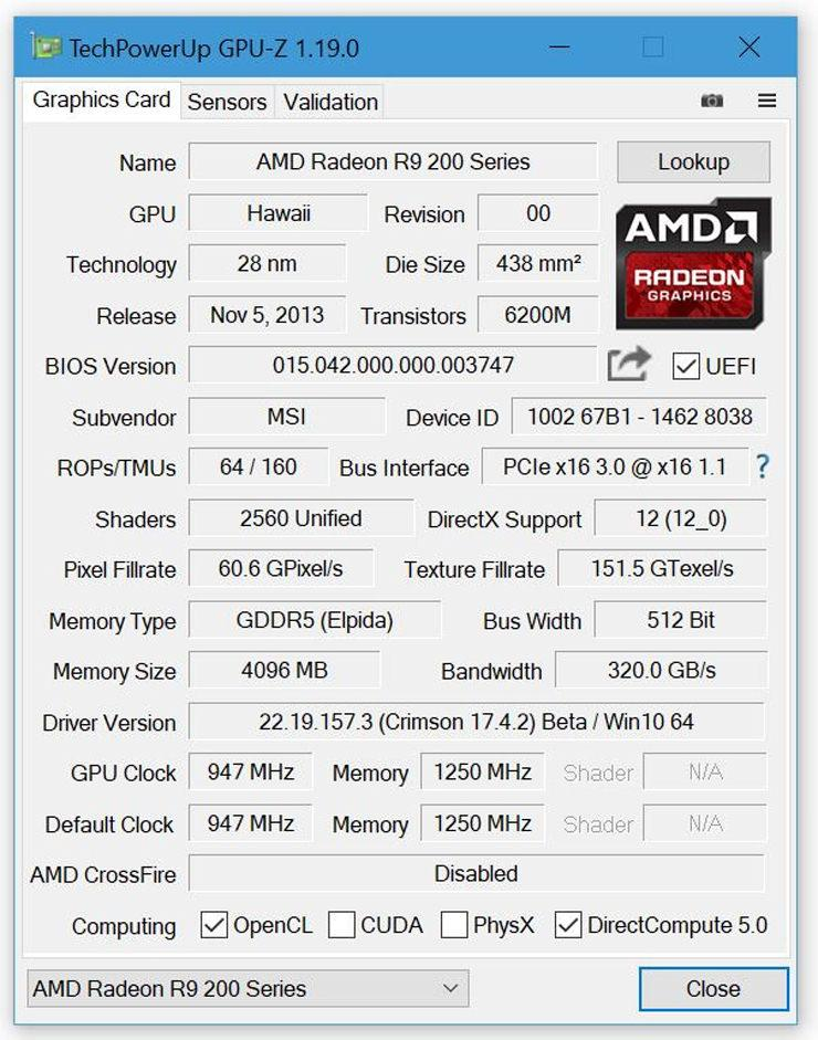 Утилита GPU-Z обновлена до версии 1.19.0