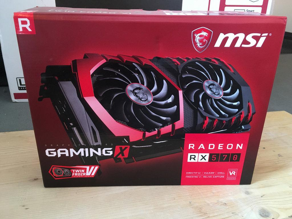 В продаже замечена видеокарта MSI Radeon RX 570 Gaming X 4 ГБ