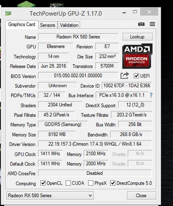Radeon RX 480 to 580 1