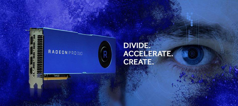 AMD выпустила видеокарту Radeon Pro Duo с двумя GPU Polaris 10