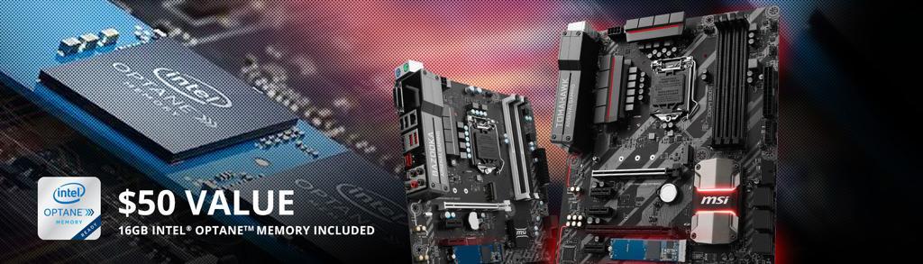 Чуть-чуть пахнет халявой: накопитель Intel Optane в подарок к некоторым материнским платам MSI