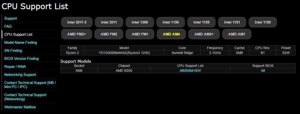 AMD Ryzen 1200
