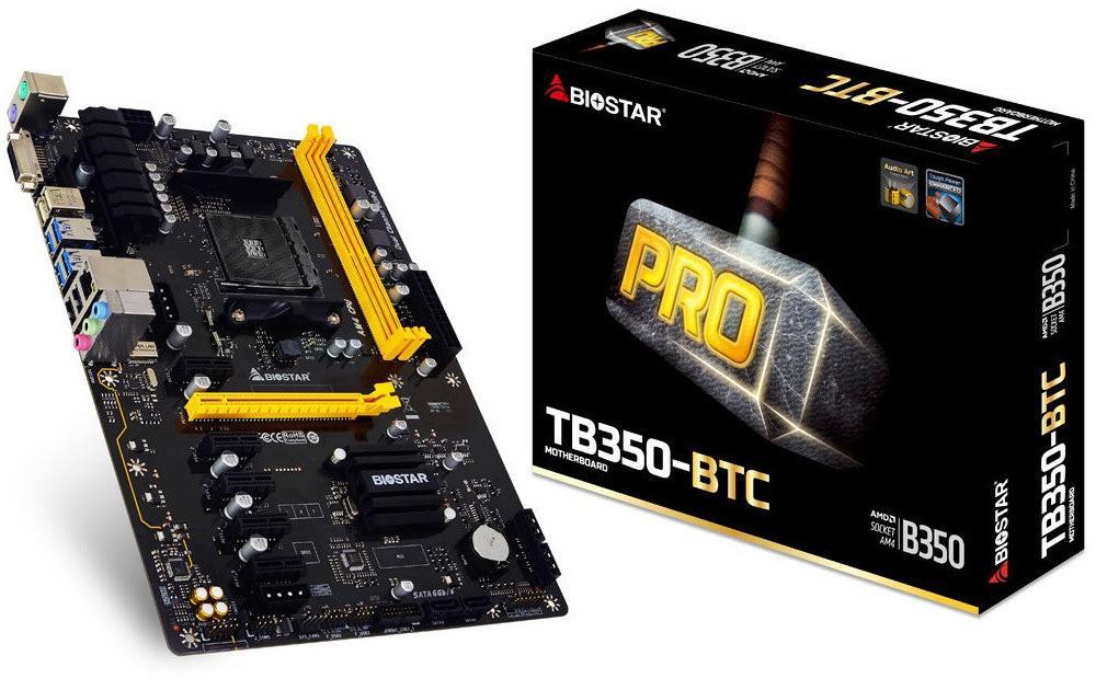 Biostar TA320-BTC и TB350-BTC – материнские платы специально для майнинга