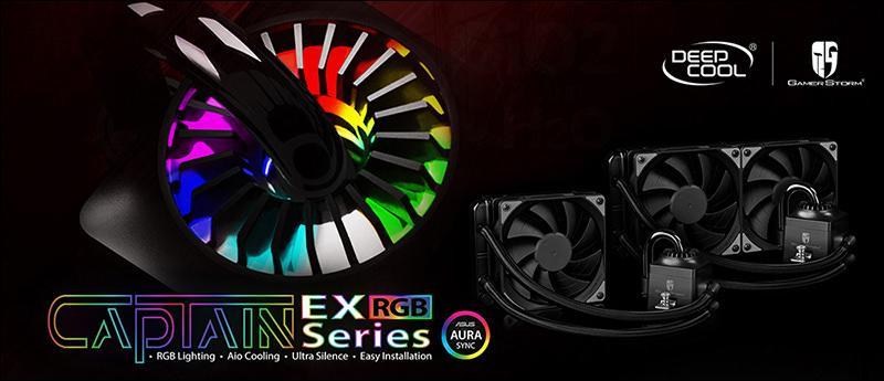 Deepcool выпустила системы жидкостного охлаждения Captain EX с RGB-подсветкой