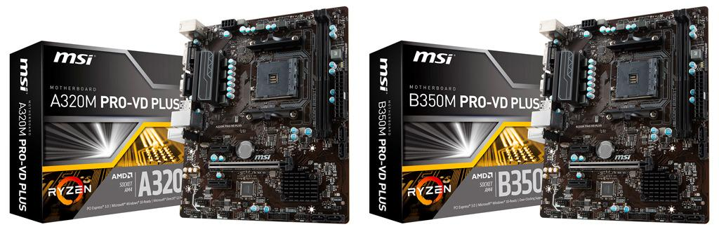 MSI Pro VD Plus B350M A320 1