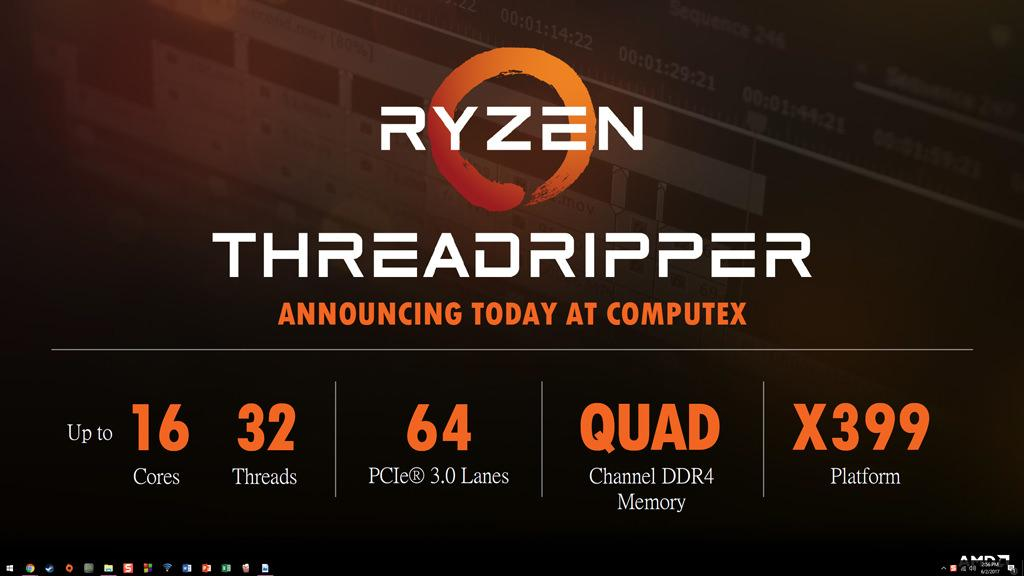 AMD Ryzen Threadripper cost 2