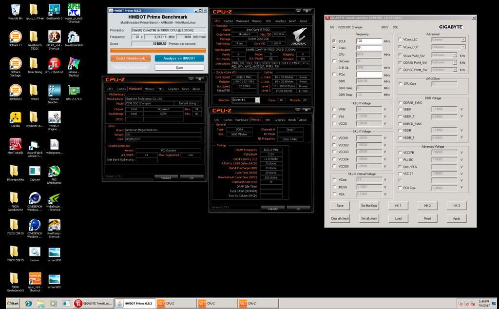 Intel Core i9 7900X world record 2