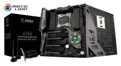 MSI анонсирует свою самую флагманскую материнскую плату – X299 Xpower Gaming AC