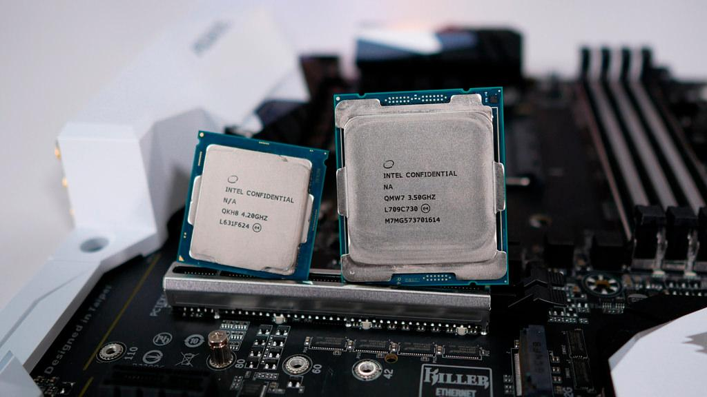 Intel core i7 7700K vs i7 7800X 1