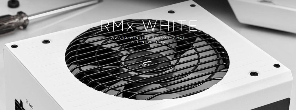 Блоки питания Corsair RMx теперь есть и в белом цвете