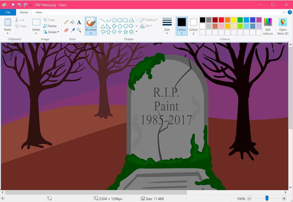 Король умер: Microsoft прекращает разработку редактора Paint