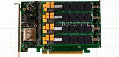 Seagate показала впечатляющий прототип NVMe SSD-накопителя на 64 ТБ