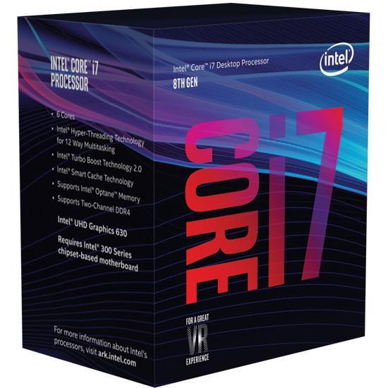 Intel Coffeelake i7 packaging