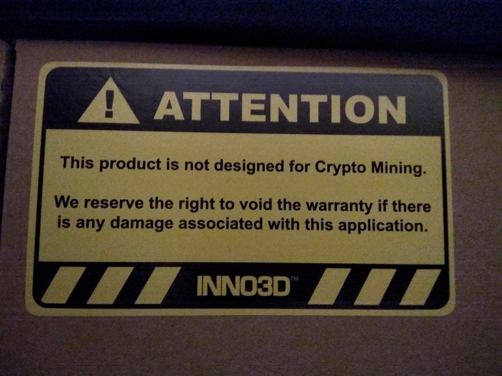Mining Warranty avoid Inno3D