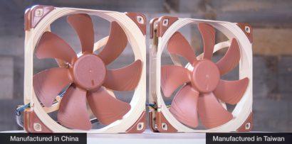 Вентиляторы Noctua производства Китай хуже, чем Тайвань?