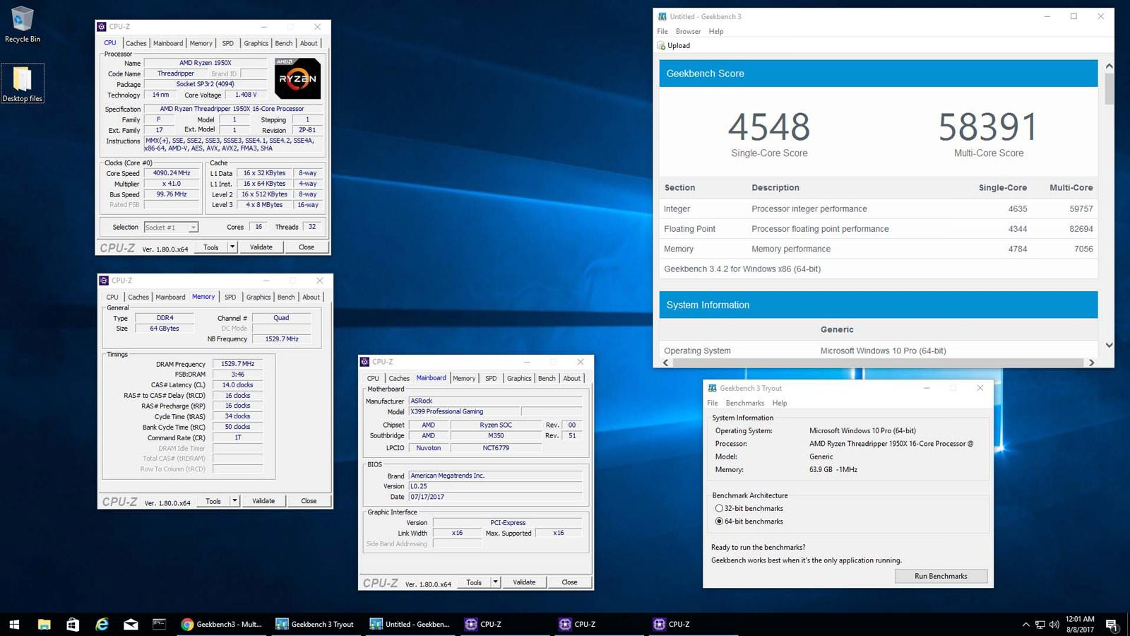AMD Ryzen Threadripper 1950X overclocked 2