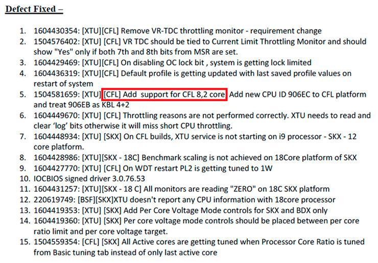 Intel Coffee Lake 8 core 2