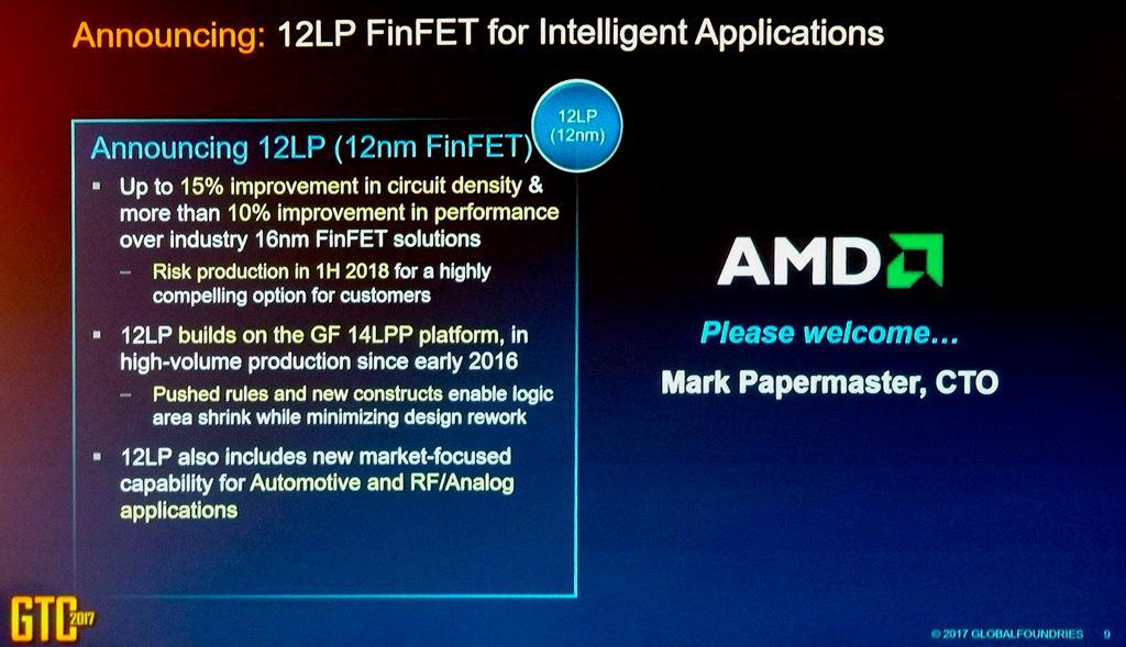 В 2018 году AMD выпустит процессоры Ryzen и видеокарты Vega по 12 нм техпроцессу