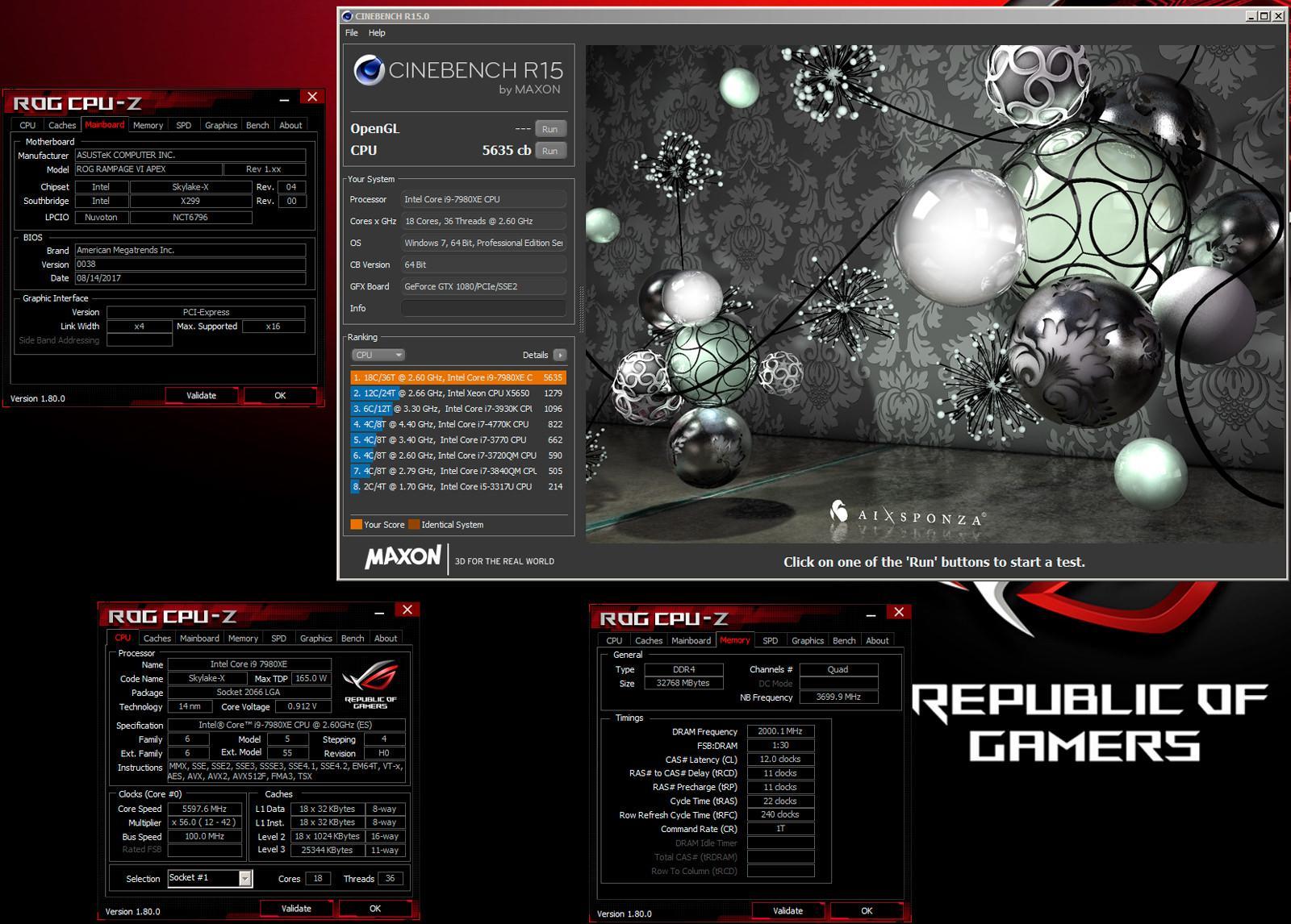 Intel i9 7980XE BEYOND 6 GHz 3