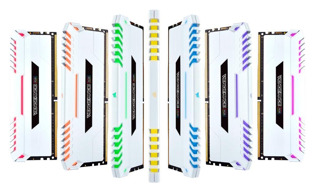 Corsair предлагает модули Vengeance RGB DDR4 в белом цвете