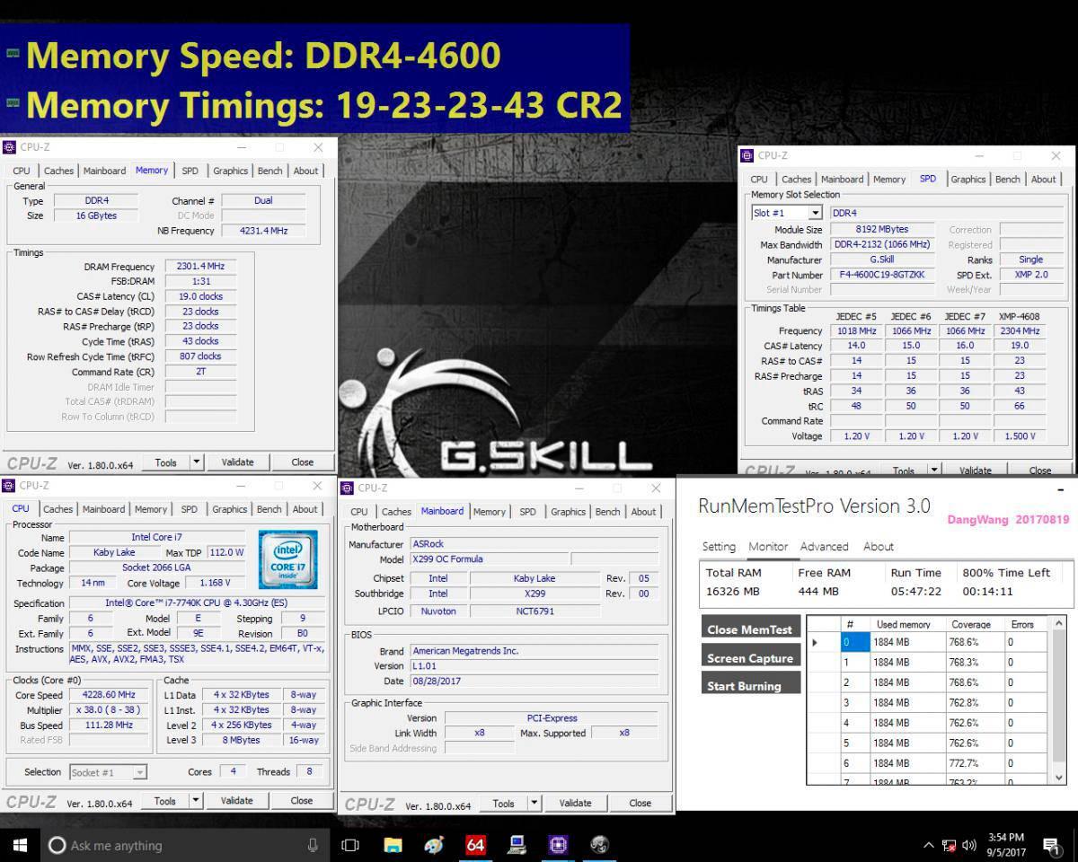 G.Skill DDR4 Extreme Performance Trident Z 4600 mhz 3