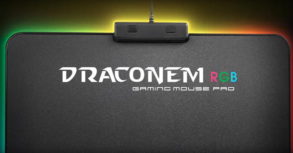 Обзор игрового коврика Tt eSPORTS Draconem RGB. Корпус у него с подсветкой… Да у меня даже ковёр с RGB!