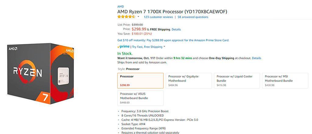 AMD Ryzen 7 sale 2