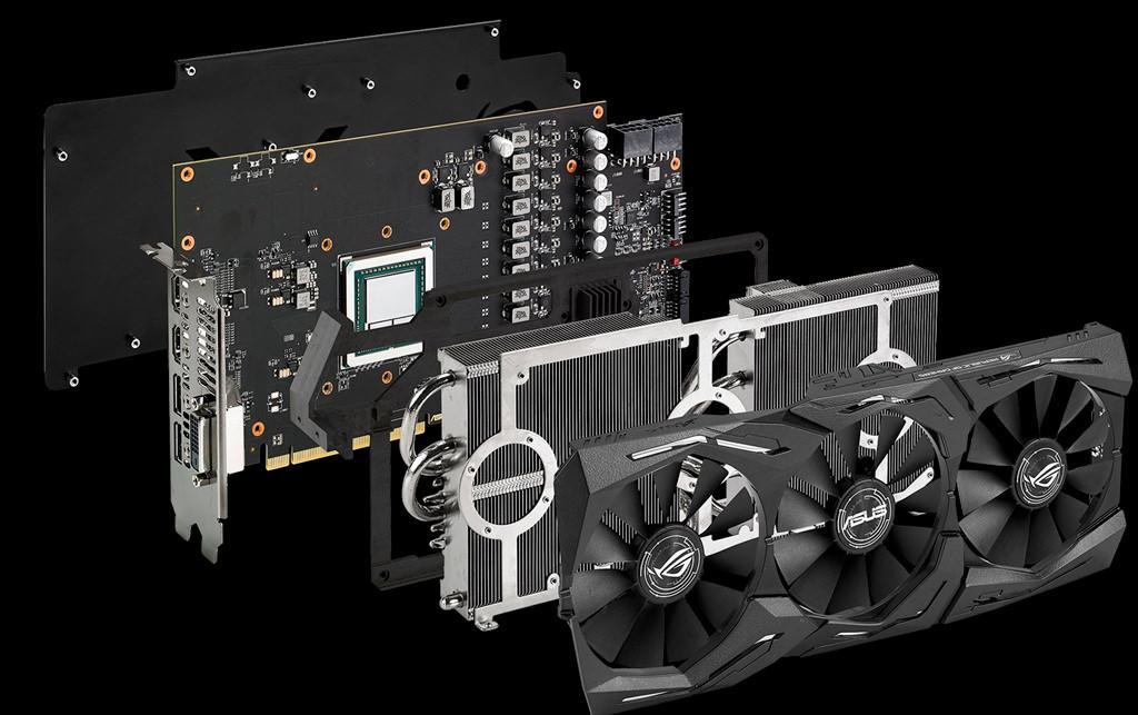 ASUS ROG Strix RX Vega 64 Mhz 1