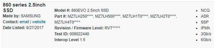 Samsung 860 Evo 1