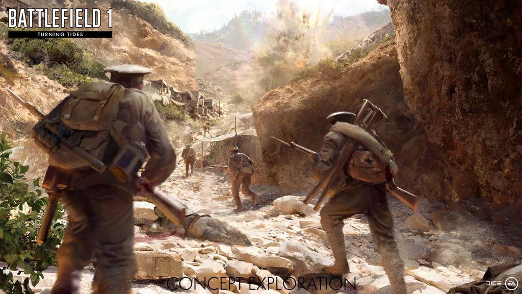 В конце года выйдет новое дополнение Turning Tides для Battlefield 1