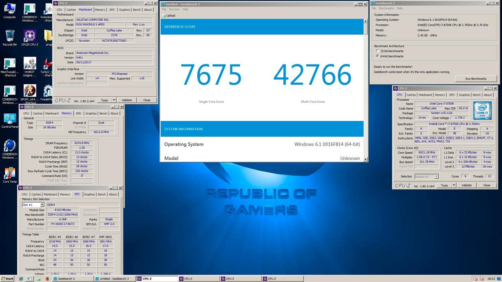 Intel Core i7 8700K 69 GHz 2