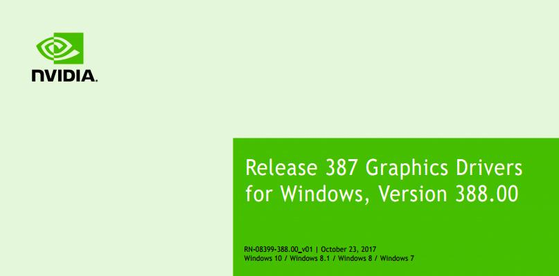 NVIDIA GeForce 388.00 WHQL Game Ready