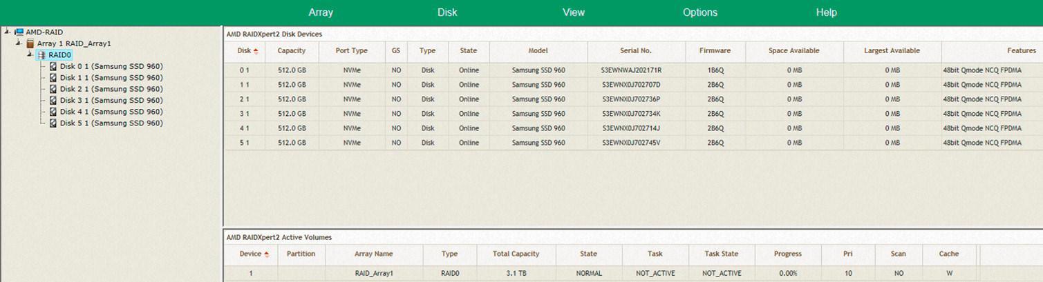 AMD X399 NVMe RAID 3