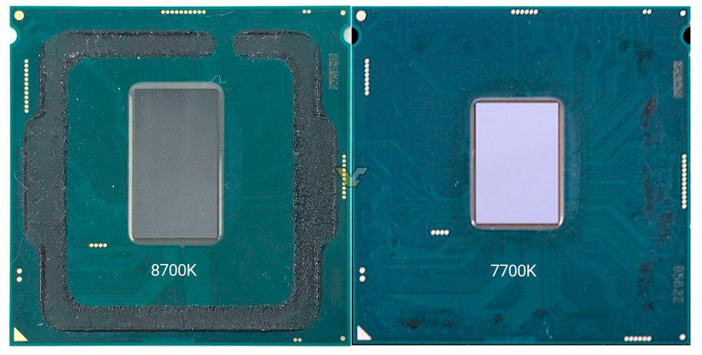 Intel Core i7-8700K без крышки + Newegg начал продажи
