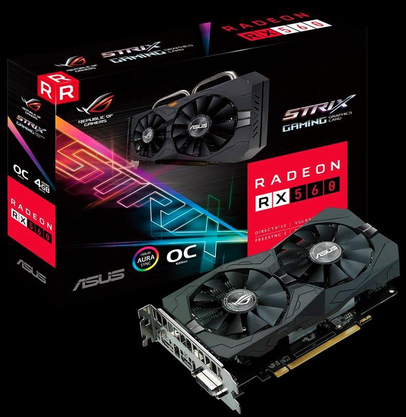 ASUS ROG Strix Radeon RX 560 EVO 1
