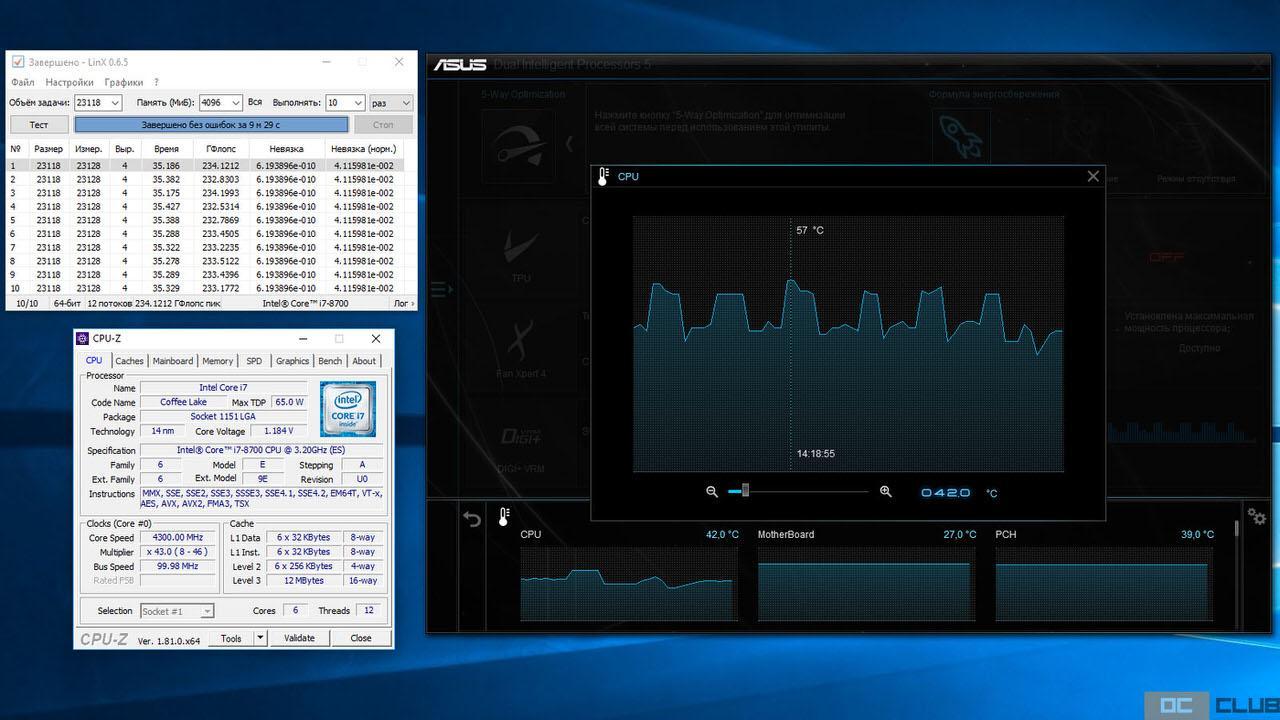Intel z370 i7 8700 19