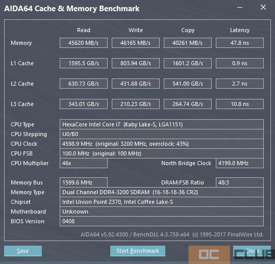 Intel z370 i7 8700 22