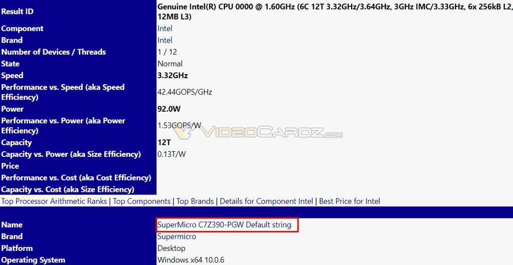 Замечена первая материнская плата с чипсетом Intel Z390