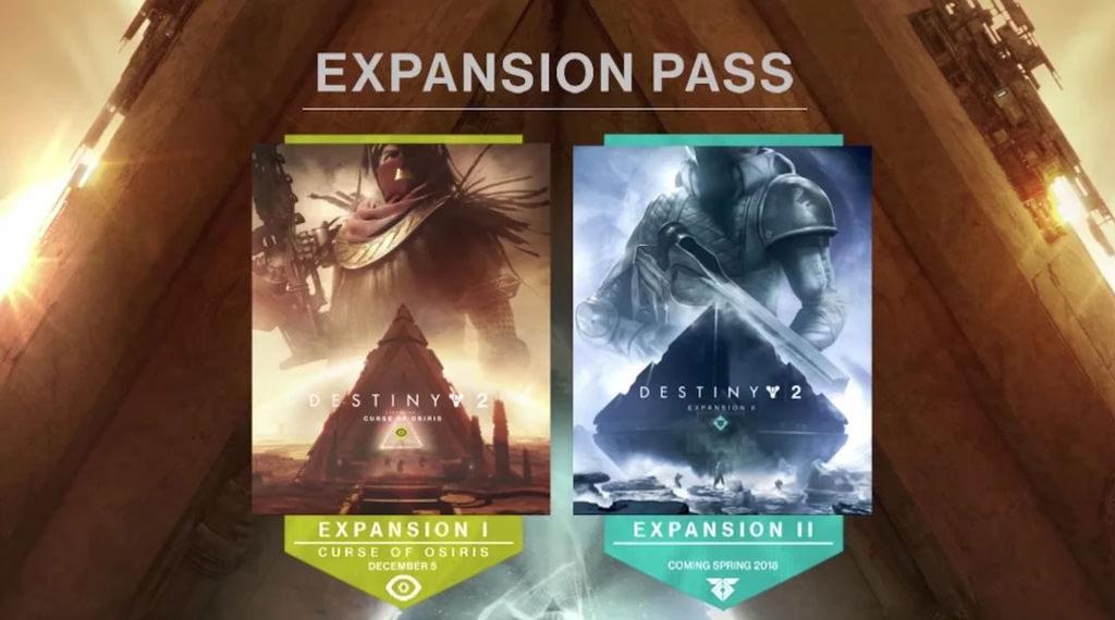 Даты выхода первых двух дополнений Destiny 2