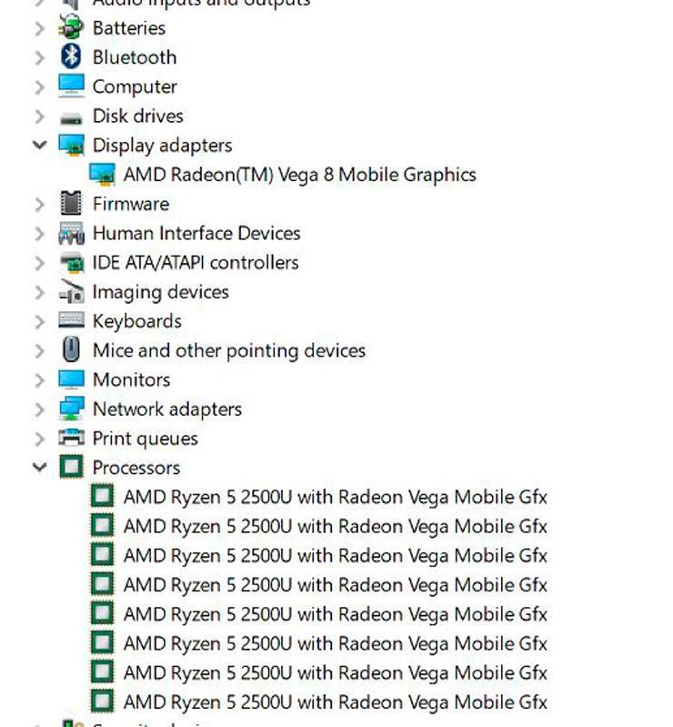 AMD Ryzen 5 2500U 2