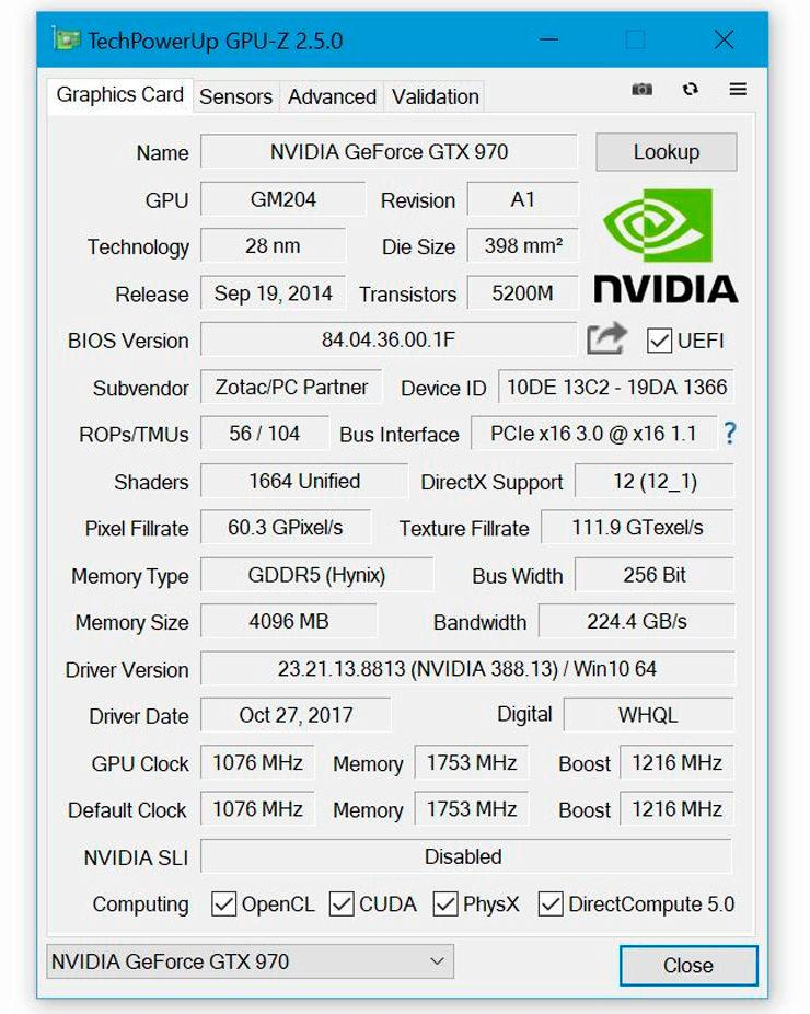 TechPowerUp GPU Z v2.5.0