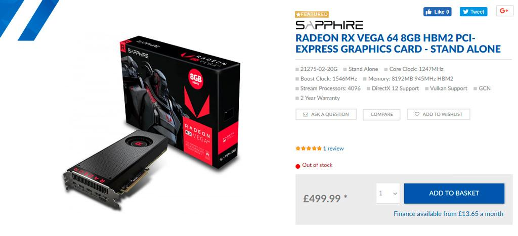 AMD Radeon RX Vega Out of stock 2