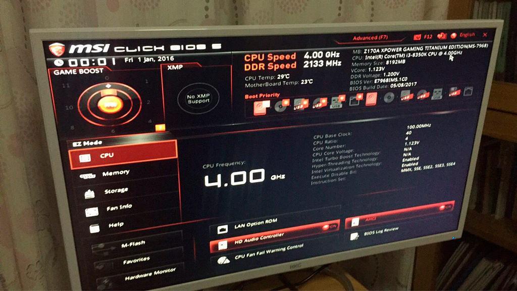 Intel I3 8350K Z170 motherboard 1