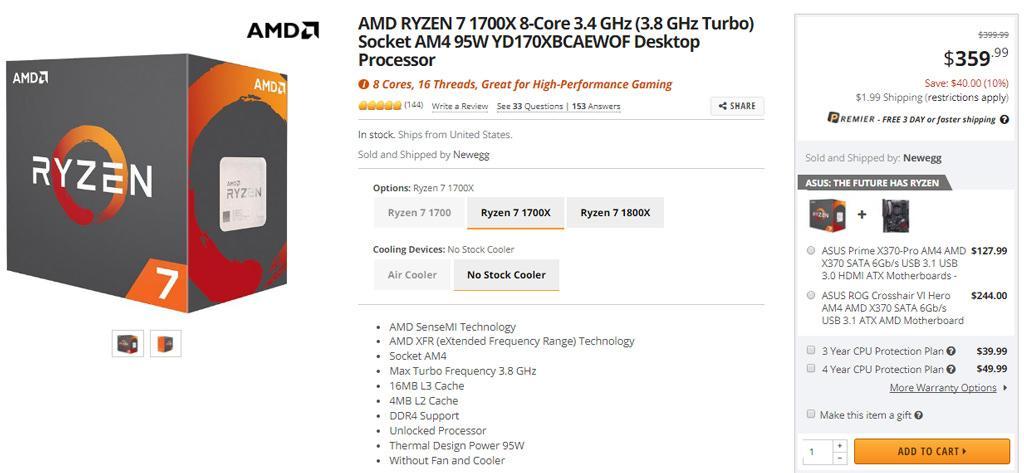 Цены на процессоры AMD Ryzen возвращаются к рекомендованным уровням