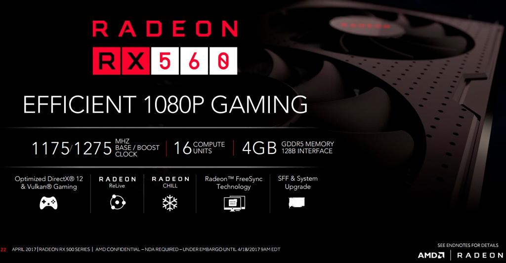 AMD отреагировала на путаницу с видеокартами Radeon RX 560