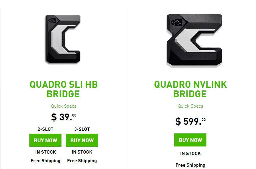 За мостик NVLink Bridge NVIDIA просит 0 + Titan V NVLink не поддерживает