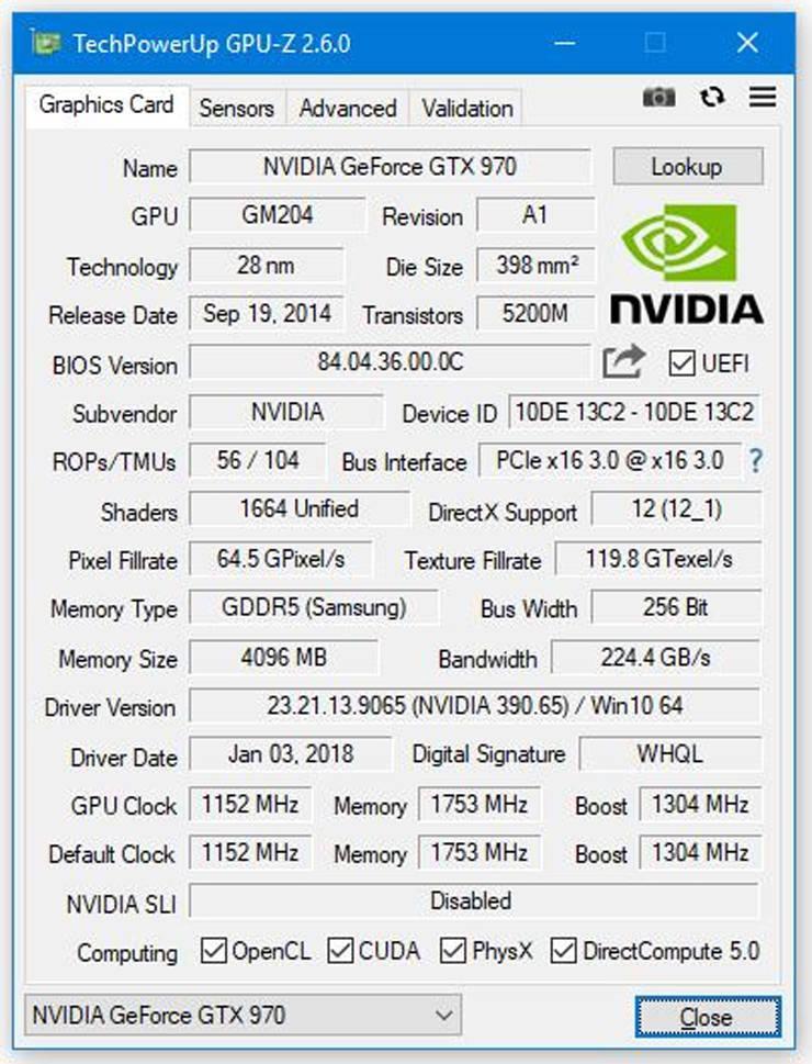 TechPowerUp GPU Z v2.6.0 1